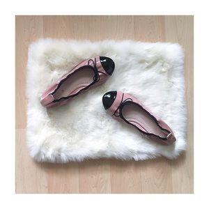 Pink & Black Patent Flats